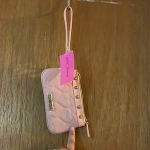 NWT baby pink wristlet in the famous Betsy hearts!